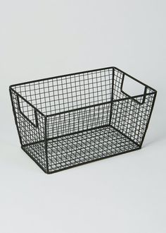 Wire Storage Basket (28cm x 18cm x 15cm) – Black – Matalan