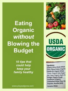 Eating Organic on a Budget from PlayEatGrow.com