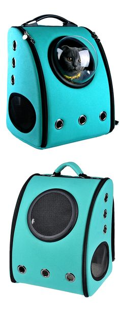 Give your pet the perfect view when carrying them around. Plus give yourself a break from those hand-styled ones, with this unique and innovative carrier, wear it like a backpack. | U-Pet Innovative Patent Bubble Pet Carriers | http://gwyl.io/u-pet-innovative-patent-bubble-pet-carriers/