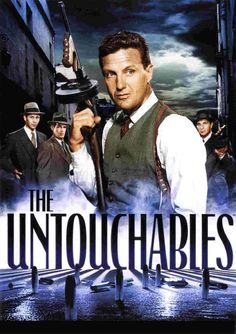 The Untouchables - Season Vol. The Untouchables chronicles the campaign of Eliot Ness (Robert Stack), the young U. Prohibition Bureau agent, to smash the beer and booze empire of Al Capone in Chicago. 60s Tv Shows, Old Shows, Great Tv Shows, Michael Landon, Frank Nitti, Eliot Ness, Mejores Series Tv, Capas Dvd, Vintage Television