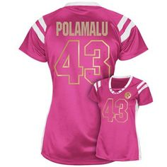 3074ddd3789 Pittsburgh Steelers Troy Polamalu Draft Him III Top - Women