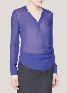 Elizabeth and James - Amandine silk blouse - on SALE | Blue and Green Blouses/Shirts Tops | Womenswear | Lane Crawford - Shop Designer Brands Online