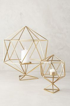 Hexacut Candleholder #anthropologie These match my lamps!