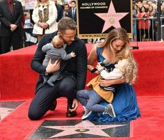 Blake Lively and Ryan Reynolds have been all about keeping their private life under wraps. Reynolds got a star on the Hollywood Walk of Fame, and he didn't do so alone. Blake Lively Daughter, Blake Lively Family, Blake Lively Style, Blake Lively Body, Ryan Reynolds Kids, Blake Lively Ryan Reynolds, Blake Lively's Kids, Blake And Ryan, Hollywood Walk Of Fame