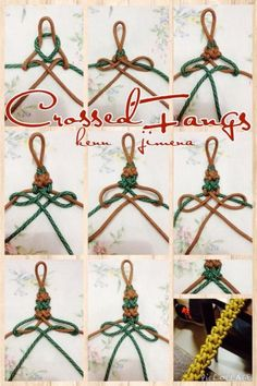 Crossed Fangs by Kenn Jimena Paracord Keychain, Paracord Bracelets, Beaded Bracelets, Cheap Bracelets, Paracord Tutorial, Hemp Jewelry, Macrame Jewelry, String Crafts, Bracelet Crafts