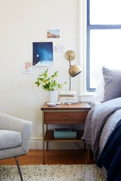 Alice Gao's Gramercy Apartment | A Cup of Jo | Isaac sconce by Schoolhouse Electric
