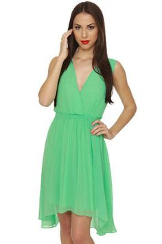 Adorable Mint Green Dress - Mint Dress - $43.00 love it, it is pretty!! great for bridemaid dresses.