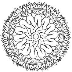 Printable Mandalas To Color Pattern Coloring Pages, Mandala Coloring Pages, Coloring Book Pages, Mandala Pattern, Mandala Design, Mandala Art, Mandalas Painting, Mandalas Drawing, Wallpaper Moon