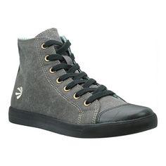 776b8bd7fa25df Women s Burnetie High Top Sneaker 450272 - Black Textile Leather Sneakers