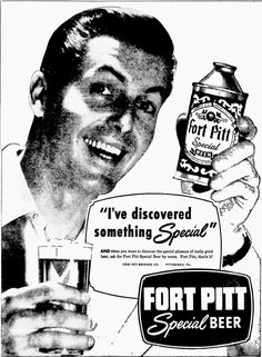Fort Pitt Special Beer newspaper ad (1950)