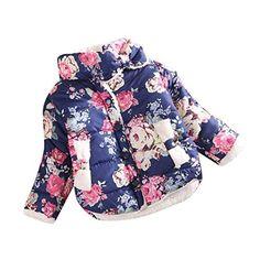 Baby Winter Coat | Franterd Winter Girl Flowers Coat Jackets Thick Warm Top Waistcoat Clothes