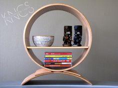 KNCS Classics // Bowstring Truss: Wooden Shelf, Round Shelf, Reclaimed Wood, Home Decor, Circular Shelf, Shelving, Free Standing