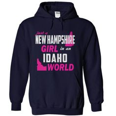NEW HAMPSHIRE Girl in a IDAHO World TopBestTees T Shirts, Hoodies. Check price ==► https://www.sunfrog.com//NEW-HAMPSHIRE-Girl-in-a-IDAHO-World-TopBestTees-NavyBlue-Hoodie.html?41382 $34