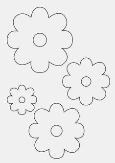 Tavaszi virágdíszek Diy And Crafts, Crafts For Kids, Arts And Crafts, Flower Template, Quilt Stitching, Christmas Clipart, Floral Illustrations, Digital Stamps, Applique Designs