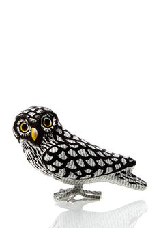 HAITI-FAIRE Suzie Owl Haitian Art. Made of recycled cement bags. $24.99
