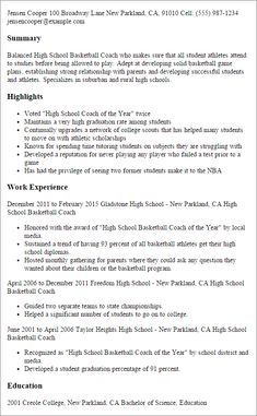 Football Coach Sample Resume Adorable Football Coach Cover Letter Sle Livecareer  American History .
