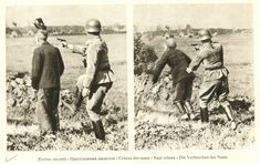 As the shot rings out, a simultaenous boot 'helps' the victim propel forward into the trench.