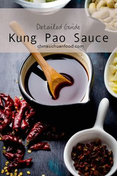 Kung Pao Sauce detailed guideline about how to prepare a well balanced kung pao sauce - Kung Pao Sauce – China Sichuan Food Sauce Recipes, Cooking Recipes, Kung Pao Sauce Recipe, Cooking Tips, Fondue, Marinade Sauce, Homemade Sauce, Asian Cooking, Vegetarian