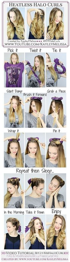 awesome 13 Easy Hair Hacks & Tips to Get Perfect Curls Without Using Any Heat - Teen.com