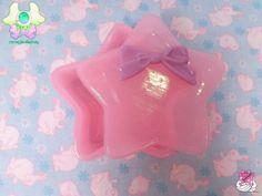 Kawaii Star Trinket Box  Pink with Purple Bow by rarasjewels, $15.00