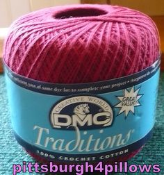 1  DMC  Traditions Crochet Thread  Color  by pittsburgh4pillows