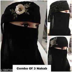 Hijab- Muslim Wear Women's Handwork Naqab Parda For Islamic Abaya And Burkha Nosepiece Fabric: Chiffon Multipack: 1 Sizes:  Country of Origin: India Sizes Available: Free Size   Catalog Rating: ★4.3 (755)  Catalog Name: Aagyeyi Refined Hijabs CatalogID_2733868 C74-SC1857 Code: 955-13847145-8541