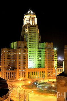Buffalo, NY City Hall. 32 story Art Deco building completed in 1931 by Dietel, Wade & Jones Architect.