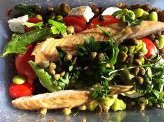 Lululunchbox.wordpress.com recipe - Delicious smoked mackerel and lentil salad