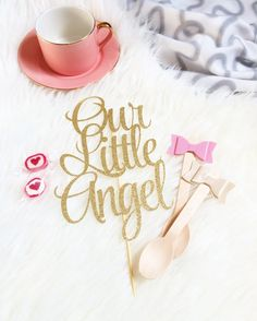 Baby Shower Cake Topper  Our Little Angel Cake by TopperAndTwine