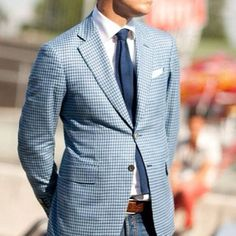 GTFO. Need a gingham jacket. therefinedgent.tumblr.com #casualfriday #gingham #sportjacket #pocketsquare #menswear #mensstyle #mensfashion #mensaccessories