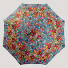 One of my favorite discoveries at WorldMarket.com: 9' Del Mar Fish Umbrella - This fabric is amazong!  So bright and cheeerful!