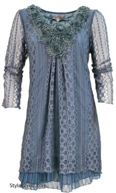 NWT-Pretty-Angel-Clothing-Vintage-Victorian-Claire-Lace-Tunic-In-Blue-16528