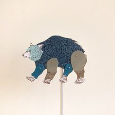 Furze Chan. Little hand puppets from Little Paper Planes - Lovely art ephemera!