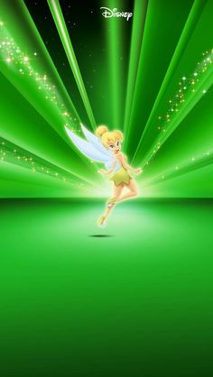Tinkerbell Vector   Tinkerbell Disney Green iPhone 5 wallpapers and Backgrounds 640 x 1136