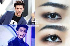 EXO Call Me Baby Comeback! Checkout The Make Up Tutorial of Sehun's Eye Make up Kpop Idol Eyes   안녕하세요 코코초입니다. 이번에 컴백한 엑소의 세훈 메이크업을 카피.. 하려했으나섀도 색 겁나 안보임.....