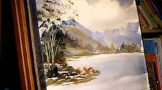 HMONGplus.COM - Watercolor-tutorial-lesson-with-gayle-weisfield-fir-trees