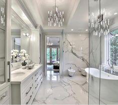 32 ultra modern master bathroom ideas to inspire your next renovation 13 – Luxury bathroom - Bathroom Ideas Beautiful Bedrooms Master, Modern Master Bathroom, Master Bathroom Design, House Interior, Bathroom Style, Bathroom Interior Design, Bathroom Decor, Dream Bathrooms, Small Apartment Bedrooms
