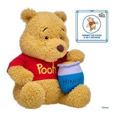 Deluxe Disney Winnie the Pooh Stuffed Animal Hunny Set | Build-A-Bear® Winnie The Pooh Plush, Disney Winnie The Pooh, Pooh Bear, Tigger, Eeyore, Bear Paws, Build A Bear, Cute Disney, Cute Kids