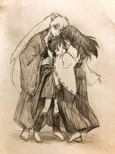 Inuyasha Funny, Inuyasha Fan Art, Kagome And Inuyasha, Kagome Higurashi, Otaku Anime, Anime Art, Manga, Seshomaru Y Rin, Dragon Rise