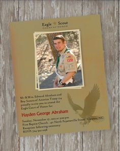 Eagle Scout Court of Honor Invitations - Vintage Scout design