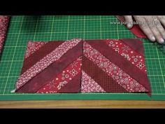 costurando faixas para fazer blocos Tia Lili