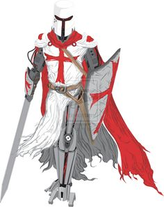 Knights Templar:  A Knight Templar, by swordsman117, at deviantART.