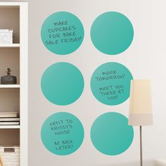 WallPops Dry-Erase Dot Whiteboard Wall Decal