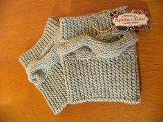 Boots Cuffs - Cobre bota\ mini polaina com fio de lã de ótima qualidade com motivo de corda dupla em tricot. Pode ser usada tanto por dentro ou fora da bota.Incremente seu visual e se aqueça.