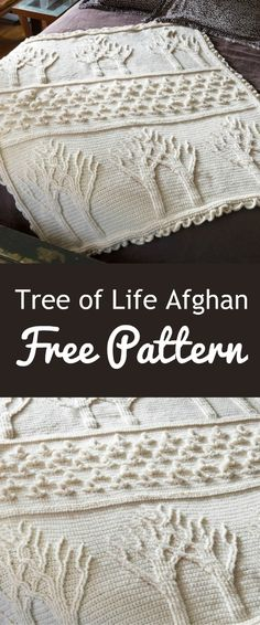 afghan patterns This Tree of Life Afghan Crochet Pattern has been super popular and you will find a free pattern included in our post. Check out the ideas now. Crochet Afghans, Afghan Crochet Patterns, Knitting Patterns, Crochet Blankets, Baby Afghans, Crochet Tree, Knit Or Crochet, Knitted Teddy Bear, Easy Knitting Projects