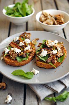 Bruschetta con setas y queso de cabra, paso a paso las fotos de la receta, el blog culinario