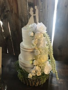 A cake fit for a fisherman! A simple vanilla buttercream fit for a rustic-chic fairytale barn wedding! Vanilla Buttercream, Breakfast Cake, Rustic Chic, Fairytale, Wedding Cakes, Barn, Simple, Fit, Desserts
