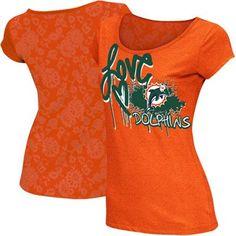 Team Miami Dolphins Orange Tee.