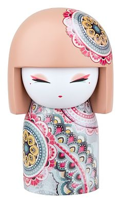 """This is a Kimmidoll Haruyo Peace Maxi Japanese Doll Figure. Kimmidoll's are fantastic collectible doll figures that are designed to represent traditional Japanese """"true values of life."""" They are well Momiji Doll, Kokeshi Dolls, Japanese Geisha, Japanese Doll, Anime Japan, Maneki Neko, Japan Design, Wooden Dolls, Kawaii Cute"""