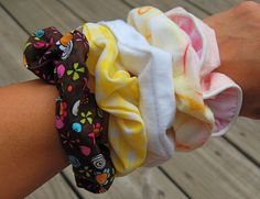 How To Make Scrunchies-Bing bang done, one scrunchie for todays gymnastics display made in a jiffy!